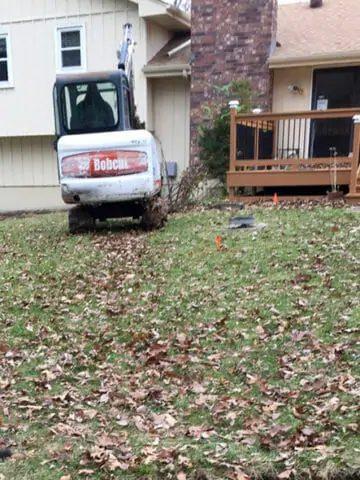 sewer line repair digging