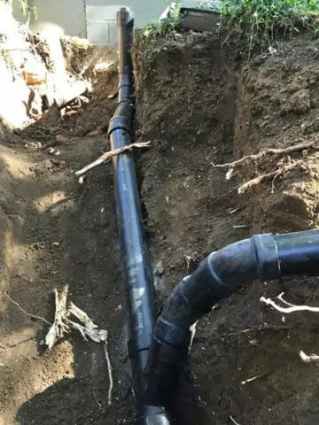 fixed sewer line